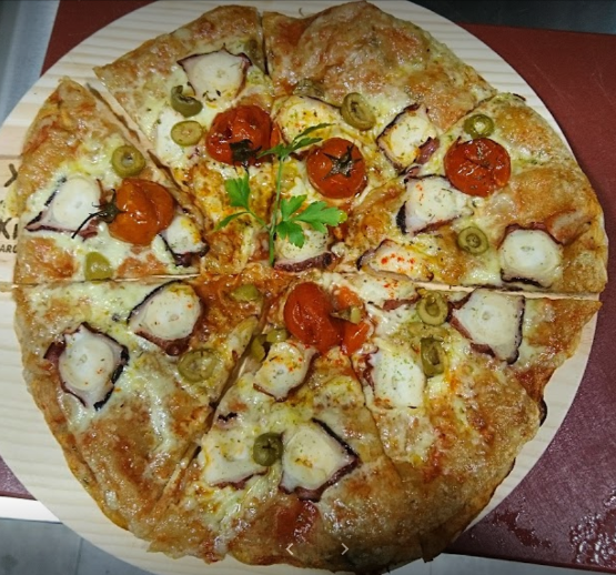 pizza de pulpo